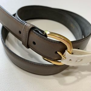 Swank 30 men's belt taupe imported